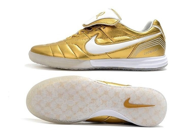 Tênis Futsal Nike Tiempo Legend 7 R10 Dourado #prontaentrega