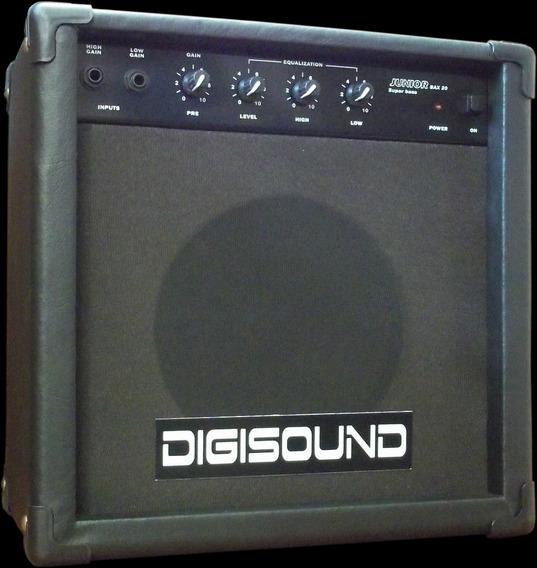 Amplificador De Bajo Digisound 20w 2 Entradas Canto