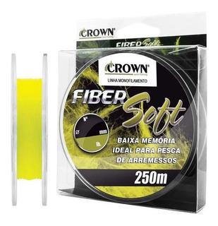 Linha Monofilamento Fiber Soft Yellow 0,20mm 9lb 250 Metros