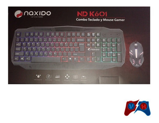 Combo Teclado+mouse Gamer Retroiluminado Rgb Naxido Nd K601. Ramos Mejia
