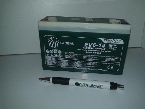 Kit 2 Baterias Selada 6v 14ah Carro Elétrico Bmw X6 12v