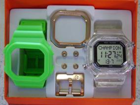 Kit Relógio Champion Yot Kit Troca Pulseiras Frete Grátis