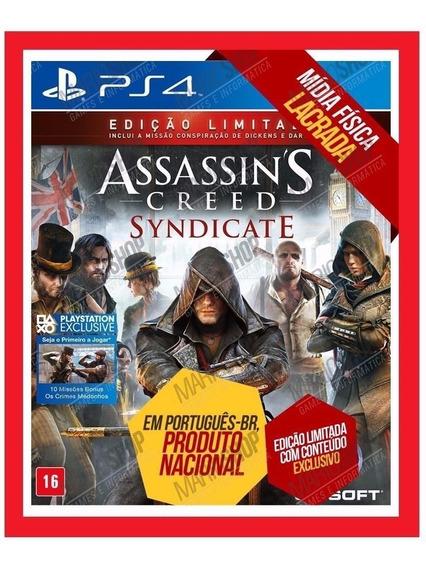 Assassins Syndicate Ps4 Mídia Física Pt Edição Limitada