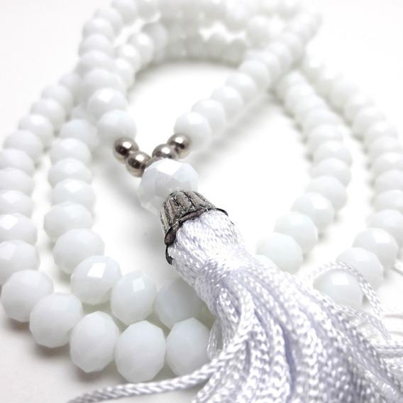 Colar Japamala Ho´oponopono Cristal (branco)