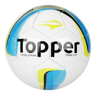 Bola Futsal Topper Strike Viii (8) - Costurada À Mão