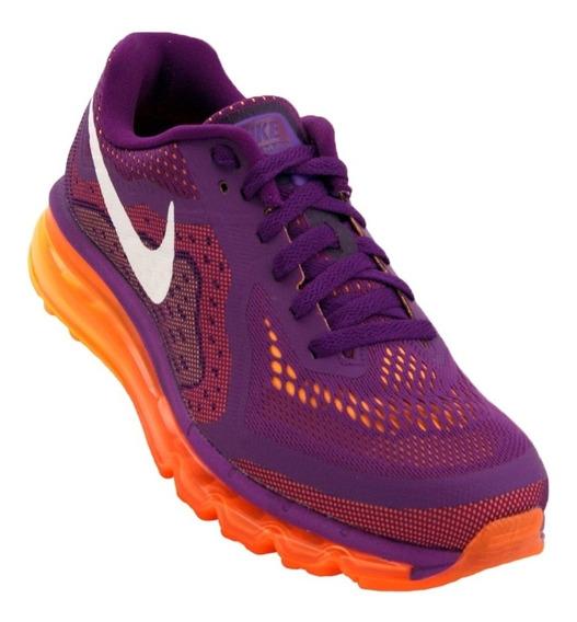 Tênis Nike Air Max 2014 Roxo/laranja Original