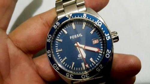Relógio Fossil Breaker Aço Fs5048/1an Diver Scuba