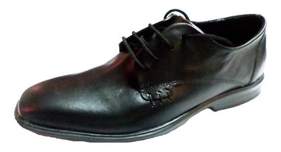 Zapato Cuero Punta Fina Acordonado Suela Febo (3000)
