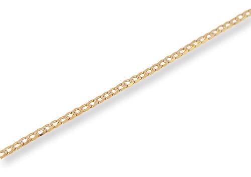 Imagen 1 de 4 de Cadena Barbada Diamantada Oro Italiano Sólido 10k 55 Cm