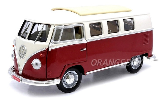 Volkswagen Microbus Kombi 1962 1:18 Yat Ming 92328-bordo