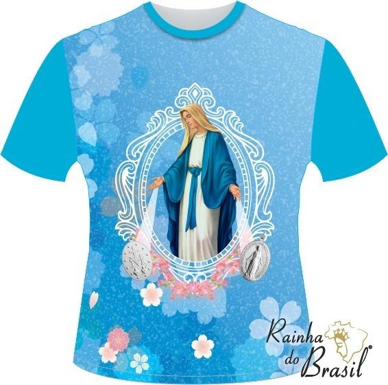 Camiseta Nossa Senhora Das Graças Turquesa
