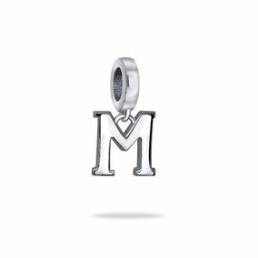 Berloque Pingente De Letra M Prata Maciça 950 Pandora Vivara