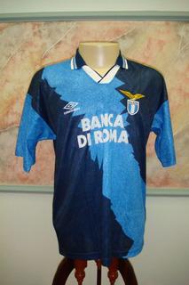 Camisa Futebol Lazio Roma Italia Lotto Antiga 573