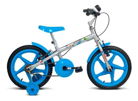 Bicicleta Aro 16 - Rock - Preta E Azul - Verden Bikes