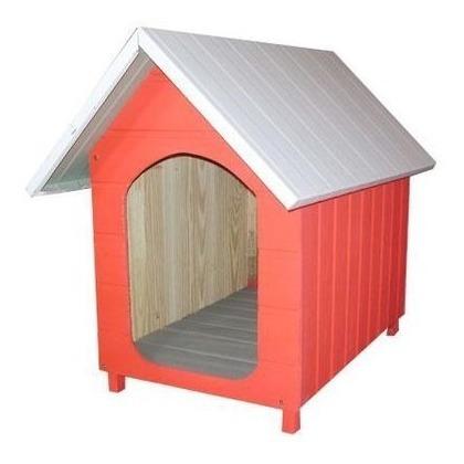 Casa Casinha Para Cães Cachorros Telhado Galvanizado Média