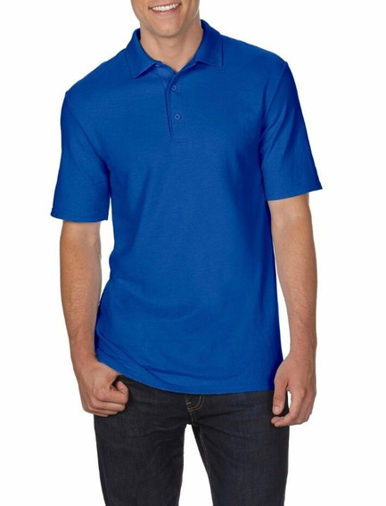 Camiseta Polo Tallas Extra 2xl 3xl 4xl 5xl Azul (big And Tall) Original
