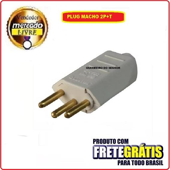 Plug Tomada Pino Macho 2p+t 10a 100 Un Inmetro Frete Grátis