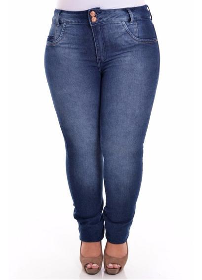 Calça Jeans C/ Lycra Feminina Tamanho Grande Plus Size
