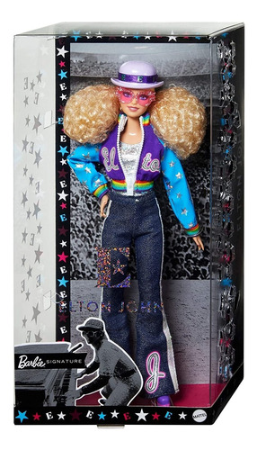 Muñeca De Coleccionista Elton John Barbie (30 Cm, Pelo Rubi