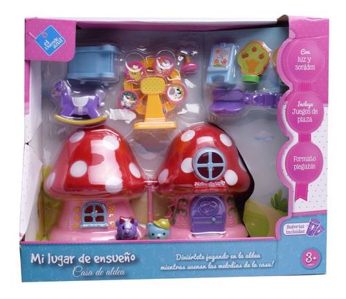 Imagen 1 de 10 de Casa Hogar De Hongos Con Muñecos Y Muebles - El Duende Azul