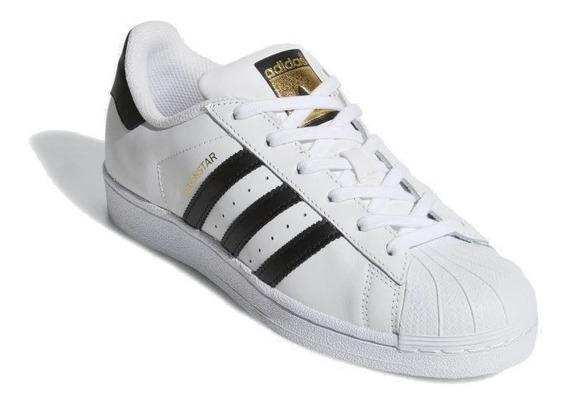 Tênis adidas Superstar Branco Com Preto