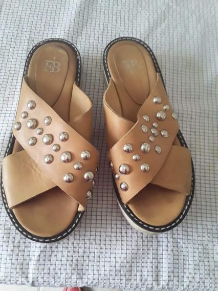 Sandalias De Cuero Febo