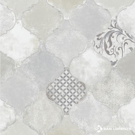 Ceramica Unique Mix Gris 45,3x45,3 1ra Calidad San Lorenzo