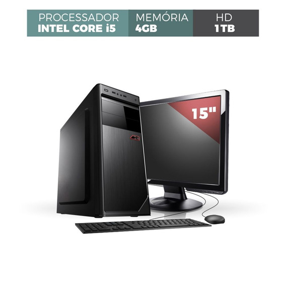 Computador Corporate I5 4gb 1tb Monitor 15