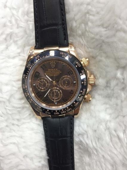 Relógio Pulso Masculino Rolex Daytona Couro Normal