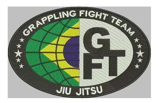 Patch Gfteam Jiu Jitsu Kimono 20x13 Cm