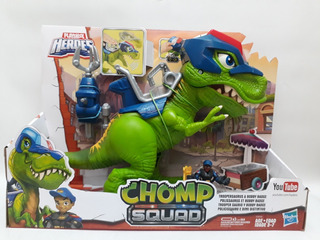 Chomp Squad-trooper Saurio Y Bobby Badge+playskool Heroes