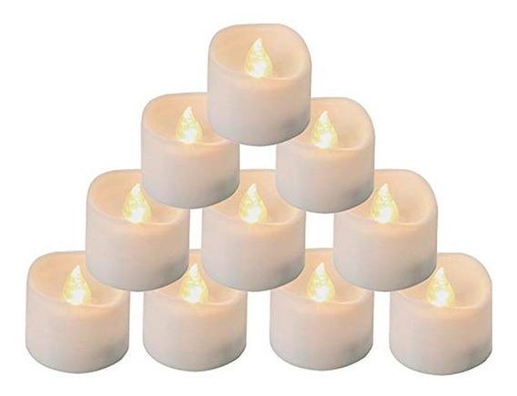 24 Velas Velita Led C/pilas Decoración Evento Cálidas