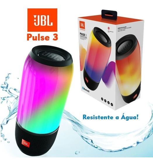 Caixa De Som Jbl Pulse 3 20w Bluetooth Original C/ Nfe Vitri