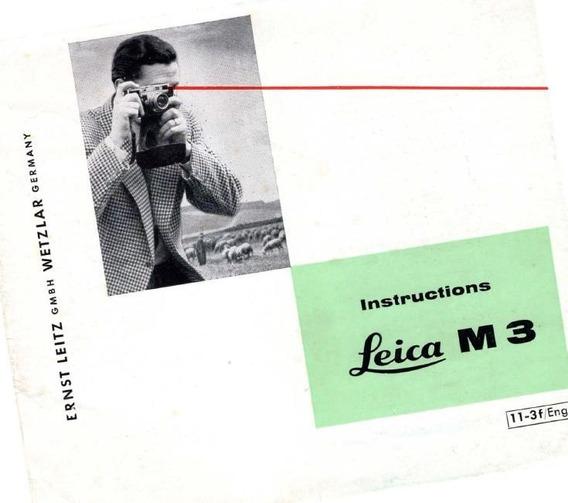 Leica M3 Manual De Instruçoes. Ingles Pdf 1,99r$