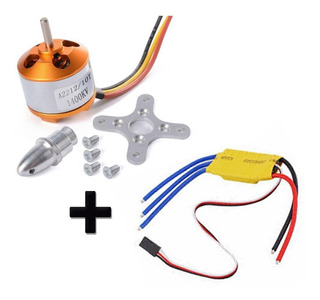 Motor Brushless 1400kv A2212 + Control Velocidad 30a Drone