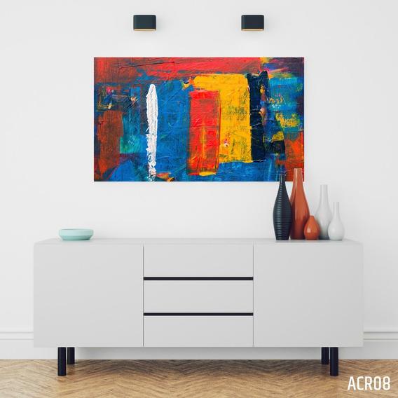 Cuadros Abstractos Acrilicos Modernos 120x50 Cm