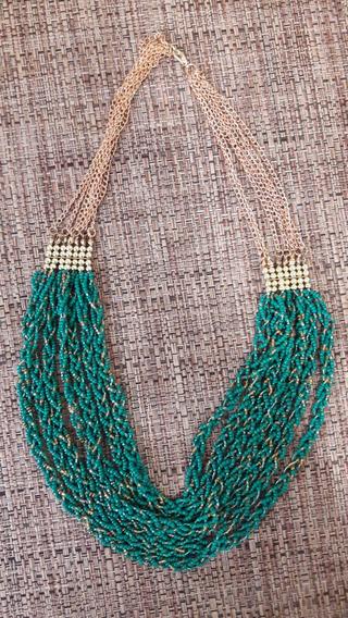 Collar Chaquiras Verde