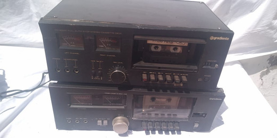 Lote 2 Antigo Tape Deck Gradiente Cd 2000 Defeito