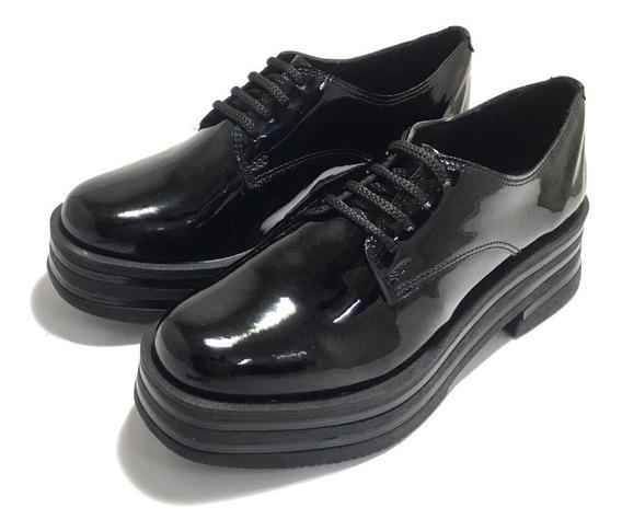 Zapatos De Mujer Charol Base Media Savage (sv/zr50)