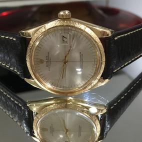 Rolex Ouro 18k Maciço Oyster Perpetual Date Lindíssimo Rolex