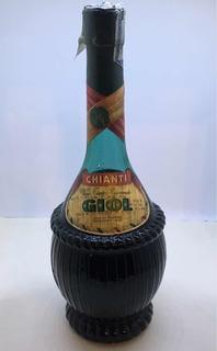 Antigua Botella Vino Chianti Bodega Giol