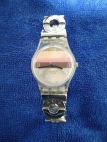 Reloj De Acero Con Extensible En Hermoso Pedreria Swatch Relojes 8n0OkNwPX