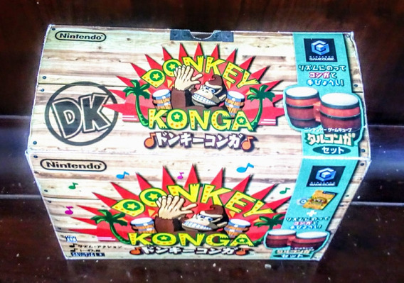 Donkey Konga Bongos Nintendo Game Cube Completo Na Caixa