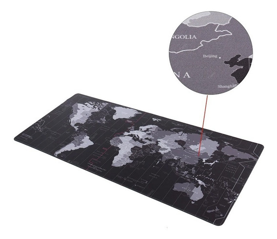 Mousepad Gamer Grande Speed Mapa Mundi 80x30 Alta Definição