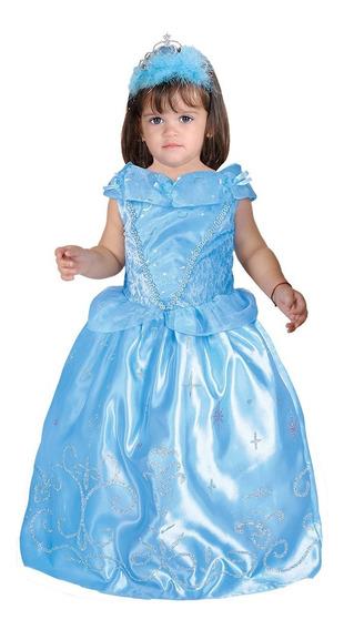 Disfraz De Princesa Cenicienta Bebe Carnavalito -d599