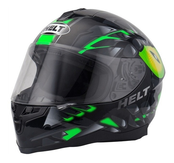 Capacete Helt New Race Raptor Black Pronta Entrega