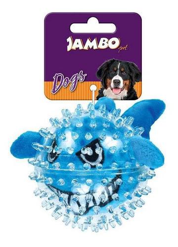 Imagem 1 de 5 de Brinquedo De Cachorro Bola Pelúcia Spike Ball Tubarão Jambo