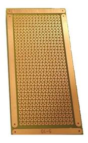 10 Placa 5x10 Perfurada Ilhada Fibra Fenolite