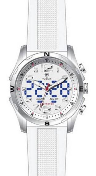 Relógio Masculino Tuguir Anadigi Branco