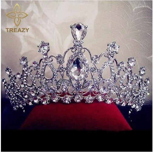 Coroa Noiva Tiara Prata Strass Casamento Princesa + Brinde